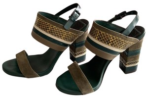 Tory Burch green multi Sandals