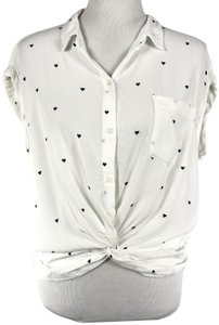 Abercrombie & Fitch Top Black & White