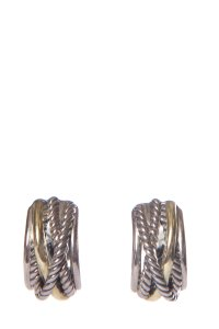 David Yurman DAVID YURMAN Sterling Silver & 14K Gold Earrings