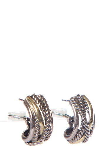 David Yurman DAVID YURMAN Sterling Silver & 14K Gold Earrings Image 1