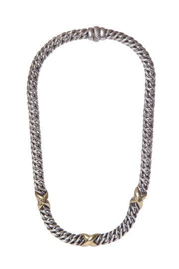 Preload https://img-static.tradesy.com/item/25997307/david-yurman-silver-sterling-22k-gold-necklace-0-0-540-540.jpg