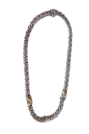 David Yurman DAVID YURMAN Sterling Silver & 22k Gold Necklace Image 1