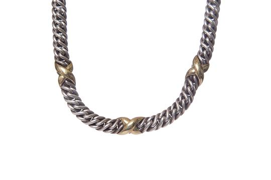 David Yurman DAVID YURMAN Sterling Silver & 22k Gold Necklace Image 3