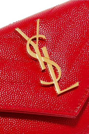 Saint Laurent Monogram Quilted Leather Small Wallet Image 3