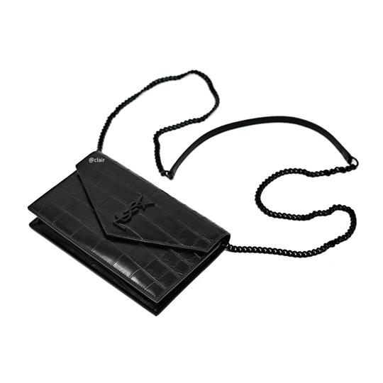 Saint Laurent Monogram Leather Cross Body Bag Image 1