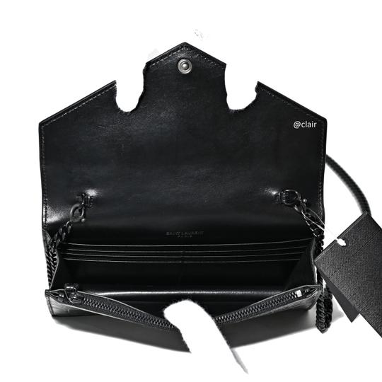 Saint Laurent Monogram Leather Cross Body Bag Image 5