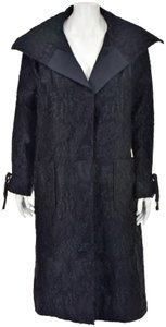 Charles Chang Lima Brocade Distresses Fabric Deconstructed Trench Coat