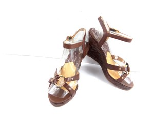 Michael Kors Sandals Sandals Brown Braided Leather Wedges
