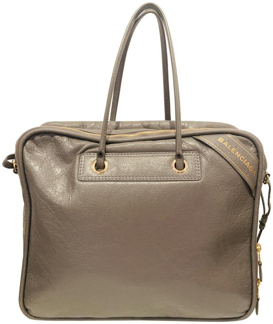 Item - Small Blanket Grey Patent Leather Tote