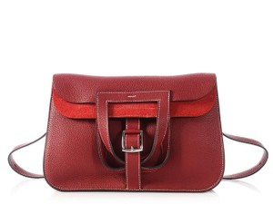 Hermès Modern Chic Fold Over Buckle Red Messenger Bag