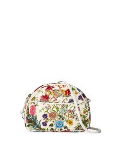 Gucci Quilted Trapuntata Floral New Cross Body Bag