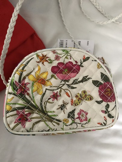 Gucci Quilted Trapuntata Floral New Cross Body Bag Image 11