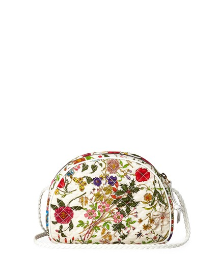 Gucci Quilted Trapuntata Floral New Cross Body Bag Image 2