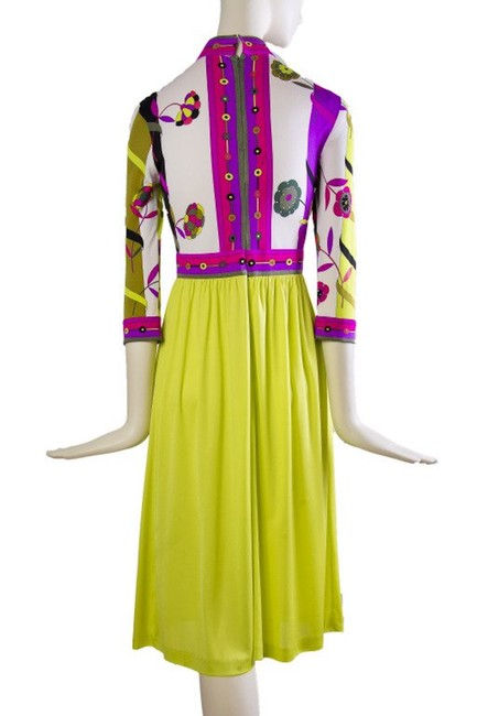 Magenta and Yellow Maxi Dress by Emilio Pucci Chartreusse Silk Vintage Image 2