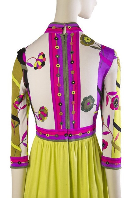 Magenta and Yellow Maxi Dress by Emilio Pucci Chartreusse Silk Vintage Image 4