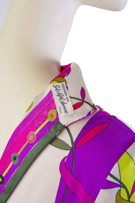 Magenta and Yellow Maxi Dress by Emilio Pucci Chartreusse Silk Vintage Image 5