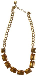 Kate Spade New Kate Spade Topaz W/Gold Chain Necklace