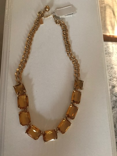 Kate Spade New Kate Spade Topaz W/Gold Chain Necklace Image 1