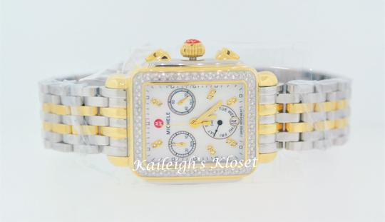 Michele Deco Two Tone Stainless Mother Of Pearl Diamond Dial Mww06p000108 Image 10