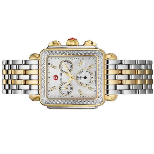 Michele Deco Two Tone Stainless Mother Of Pearl Diamond Dial Mww06p000108 Image 2