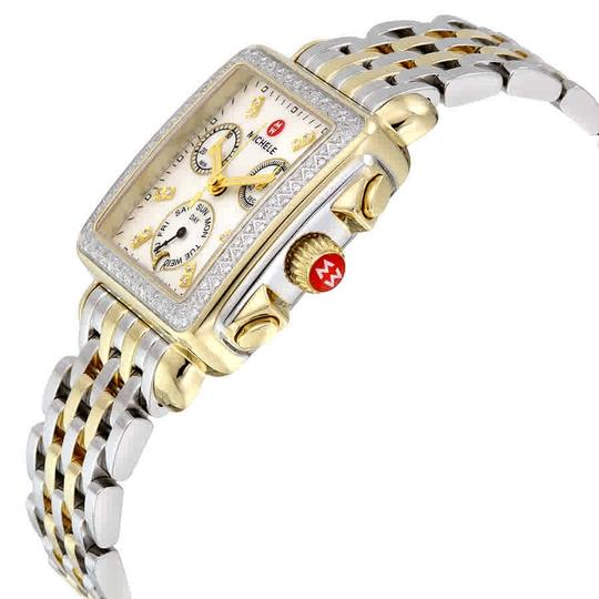 Michele Deco Two Tone Stainless Mother Of Pearl Diamond Dial Mww06p000108 Image 3