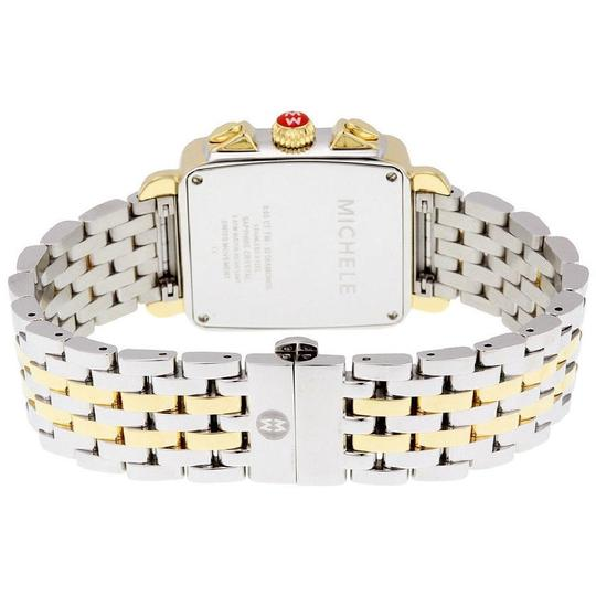 Michele Deco Two Tone Stainless Mother Of Pearl Diamond Dial Mww06p000108 Image 6