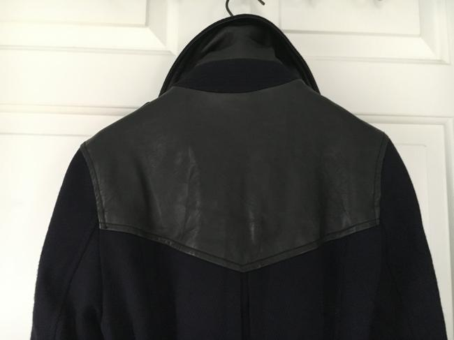 Burberry Wool Leather Double Trench Coat Image 1