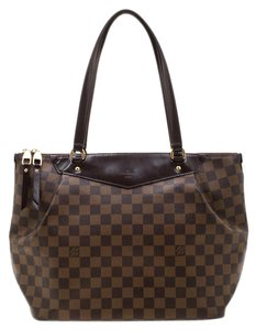 Louis Vuitton Canvas Coated Canvas Tote in Brown