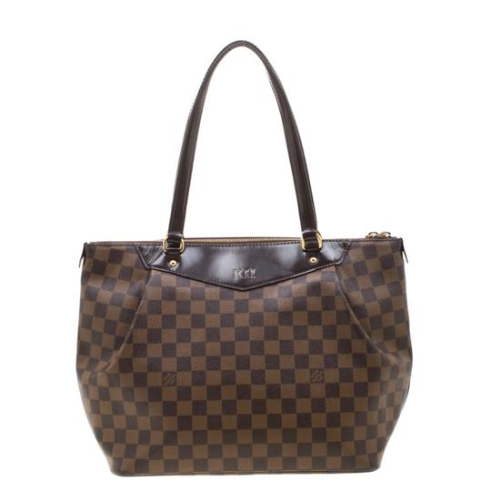 Louis Vuitton Canvas Coated Canvas Tote in Brown Image 1