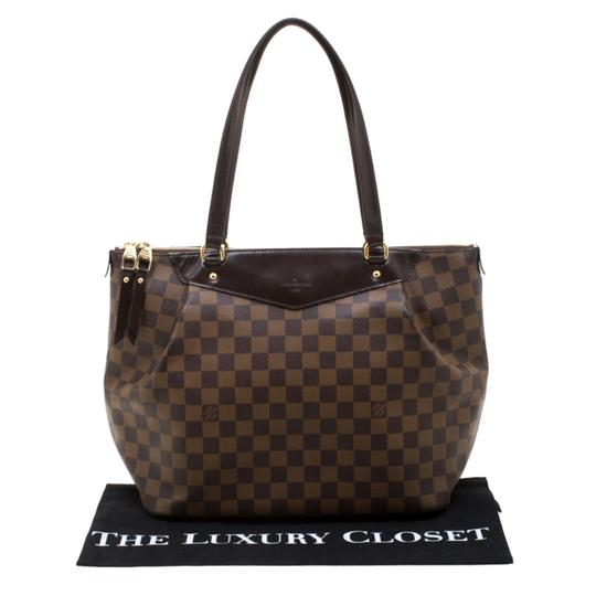 Louis Vuitton Canvas Coated Canvas Tote in Brown Image 11