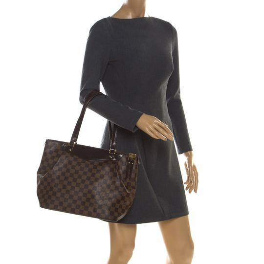Louis Vuitton Canvas Coated Canvas Tote in Brown Image 2