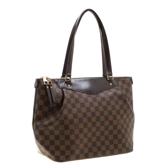 Louis Vuitton Canvas Coated Canvas Tote in Brown Image 3