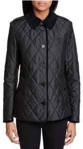 Burberry Classic Quilted Corduroy Checkered Black Jacket