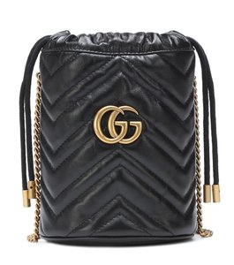 Gucci Purse Gg Marmont Bucket Cross Body Bag