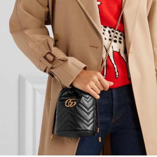 Gucci Purse Gg Marmont Bucket Cross Body Bag Image 5
