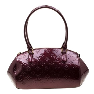Louis Vuitton Patent Leather Monogram Satchel in Burgundy