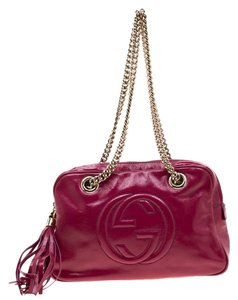 Gucci Patent Leather Chain Shoulder Bag