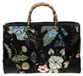 Gucci Canvas Leather Tote in Black Image 0