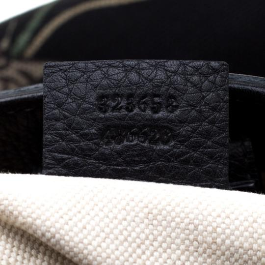 Gucci Canvas Leather Tote in Black Image 7