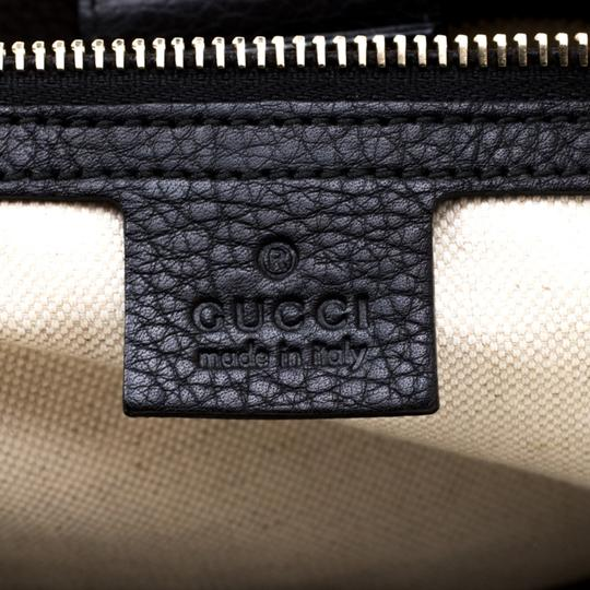 Gucci Canvas Leather Tote in Black Image 9