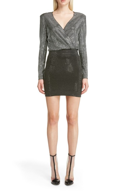 Item - Gunmetal/ Black Studded Mini Short Cocktail Dress Size 4 (S)