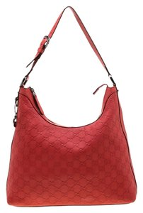 Gucci Leather Charm Hobo Bag