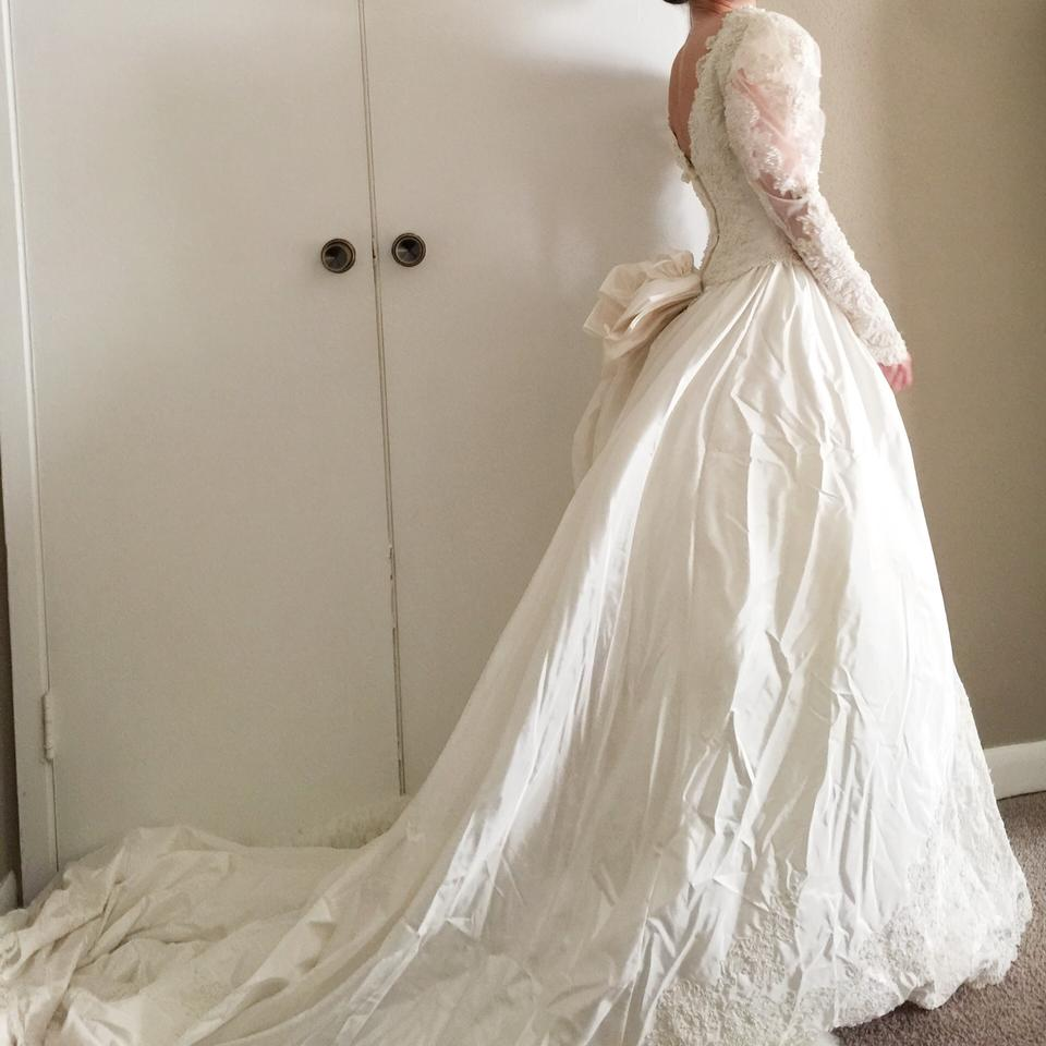 Jasmine Pearl Beaded Lace Gown By Vintage Wedding Dress
