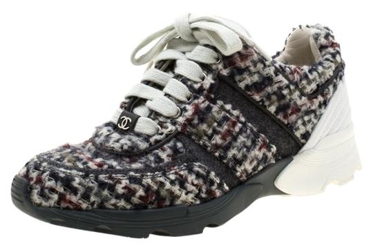 Preload https://img-static.tradesy.com/item/25998557/chanel-grey-greywhite-tweed-and-leather-lace-up-sneakers-size-eu-36-approx-us-6-wide-c-d-0-1-540-540.jpg