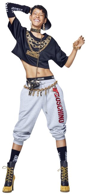 MOSCHINO [tv] H&M Gray Mtv Embroidered Logo Sweat Activewear Bottoms Size 4 (S) MOSCHINO [tv] H&M Gray Mtv Embroidered Logo Sweat Activewear Bottoms Size 4 (S) Image 1