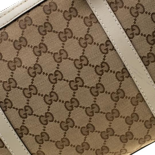 Gucci Canvas Leather Tote in Beige Image 10