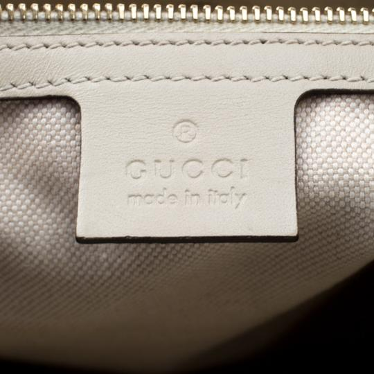 Gucci Canvas Leather Tote in Beige Image 9