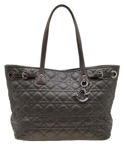 Dior Coated Canvas Leather Tote in Metallic