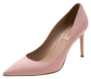 Valentino Leather Pointed Toe Pink Pumps