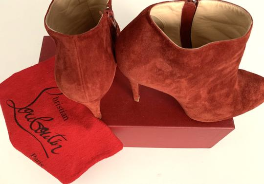 Christian Louboutin Suede Red Boots Image 1